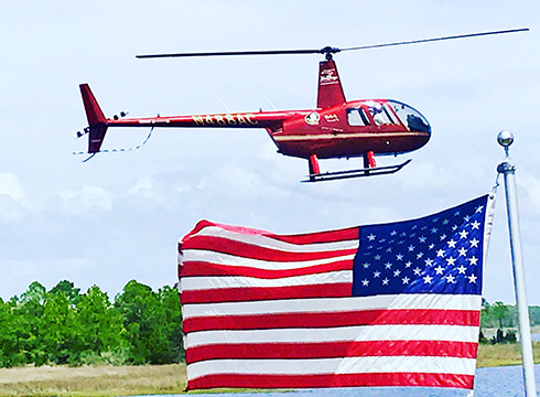 Helicopter & American Flag